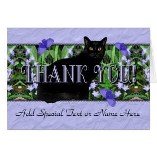 Stately Black Car and Wildflowers Thank You Card