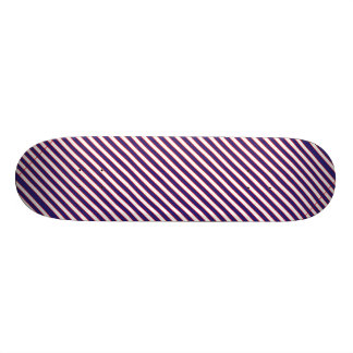 Stately Patriotic Stripes Skate Board Deck