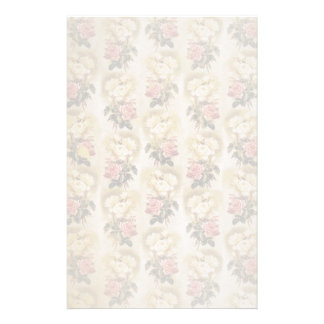 Stately Vintage Floral Stationery Paper