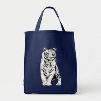 Stately White Tiger Bag
