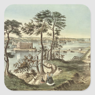 Staten Island and the Narrows from Fort Hamilton Square Sticker