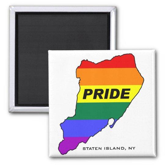 Staten Island Gay Pride2 Square Magnet