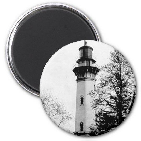 Staten Island Lighthouse 6 Cm Round Magnet