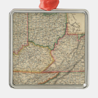 States of Delaware and Maryland Christmas Ornament