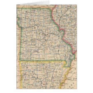 States of Illinois, Missouri, and Arkansas Card