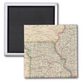States of Illinois, Missouri, and Arkansas Magnet
