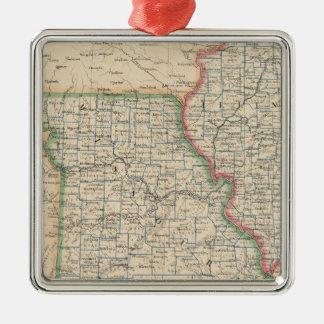 States of Illinois, Missouri, and Arkansas Silver-Colored Square Decoration