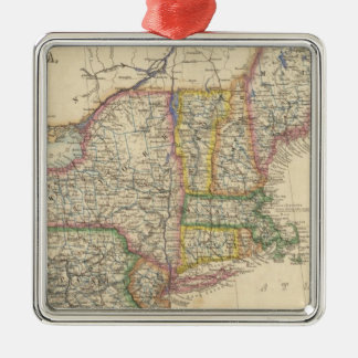 States of Maine, New Hampshire, Vermont Christmas Ornament