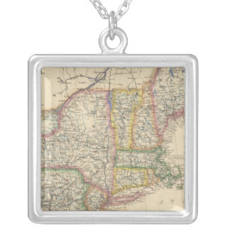 States of Maine, New Hampshire, Vermont Silver Plated Necklace