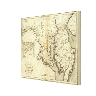 States of Maryland and Delaware Canvas Print