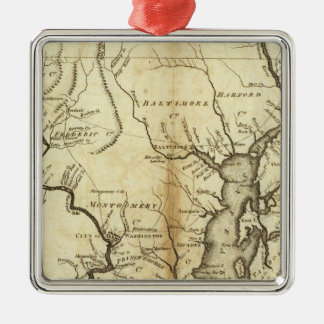 States of Maryland and Delaware Christmas Ornament