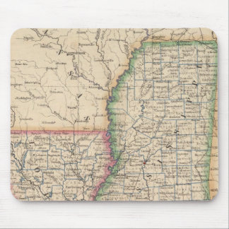 States of Mississippi and Louisiana Mouse Mat