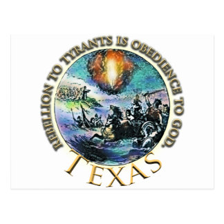 States of Rebellion to Tyrants TEXAS Post Cards