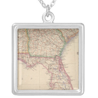 States of South Carolina, Georgia, and Alabama Silver Plated Necklace
