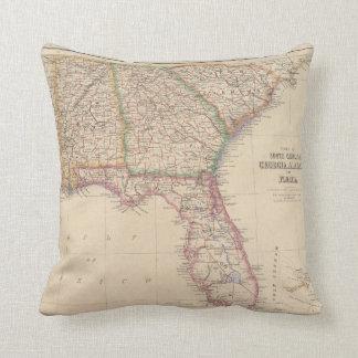 States of South Carolina, Georgia, and Alabama Throw Pillow
