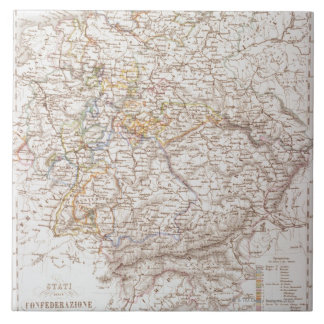 States of the German Confederation Large Square Tile