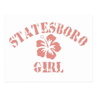 Statesboro Pink Girl Postcard