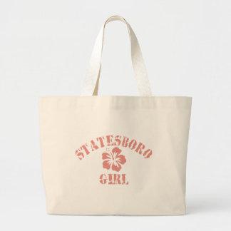 Statesboro Pink Girl Jumbo Tote Bag