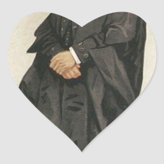 Statesmen No.1290 Caricature of The Rt Hon HBW Heart Sticker