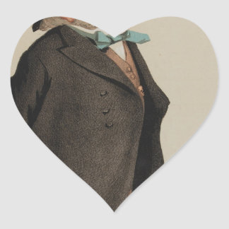 Statesmen No.1310 Caricature of Sir Francis Goldsm Heart Sticker
