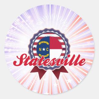 Statesville, NC Round Sticker
