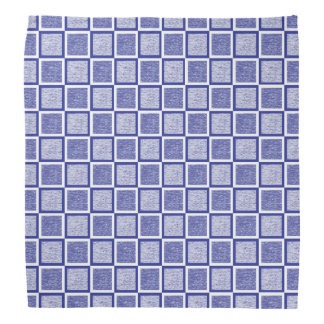 Static Blue and White Squares Bandana