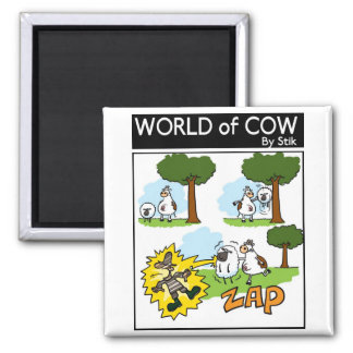 Static Sheep Square Magnet