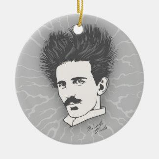 Static Tesla Christmas Ornament