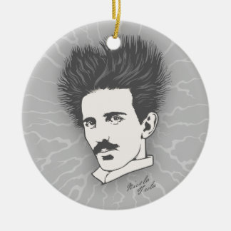 Static Tesla Round Ceramic Decoration