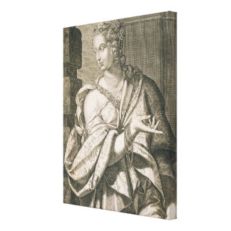 Statilia Messalina third wife of Nero (engraving) Canvas Print