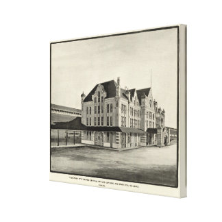 Station, Concord & Montreal Railroad, Concord Canvas Print