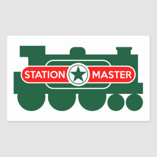 Station Master Rectangular Sticker