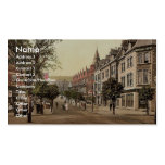 Station Road, Colwyn Bay, Wales rare Photochrom Business Card Templates