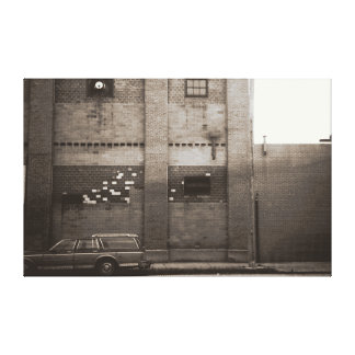 Station Wagon Urban Industrial Cityscape Gallery Wrap Canvas