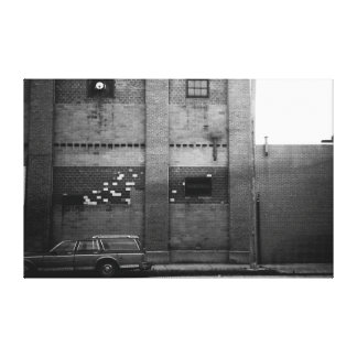 Station Wagon Urban Industrial Cityscape Stretched Canvas Prints