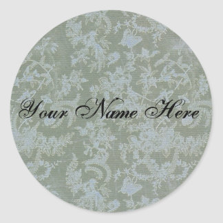 Stationary Blue-Greens Classic Round Sticker