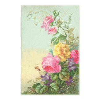 Stationary Floral Vintage Stationery Design