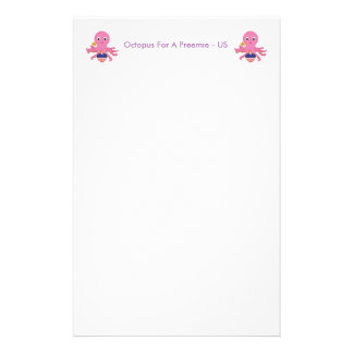 Stationary Octopus For A Preemie US Personalised Stationery