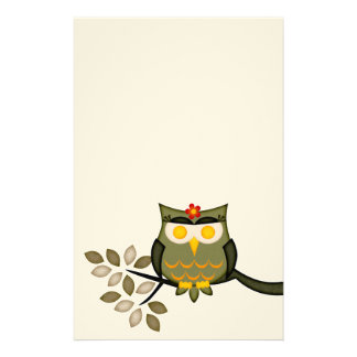 Stationary Owl in a tree Stationery