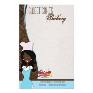 Stationery - African American Baker Cup Cakes Bake