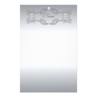 Stationery Chrome Silver Pearl
