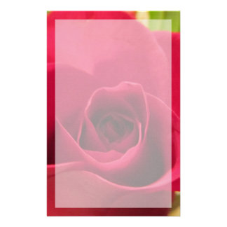 "Stationery--""Drop Dead Red"" Rose With Border Stationery Design"