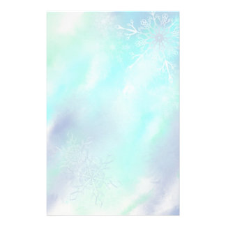 Stationery- Frosty Snowflakes Stationery Paper