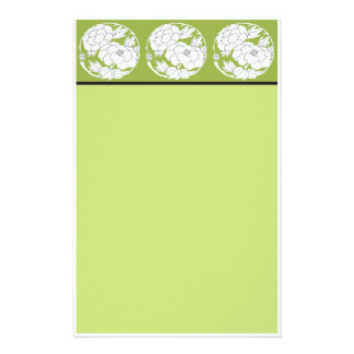 Stationery Japanese Peonies green