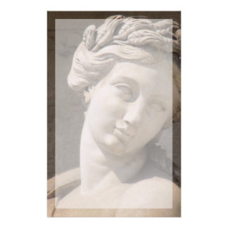 Stationery-- Statue of Woman's Face