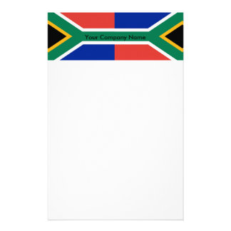 Stationery with Flag of South Africa