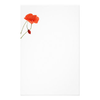 Stationery with two poppies