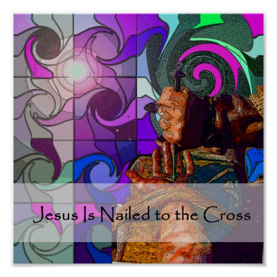 Stations Of The Cross 10 Poster Zazzle Co Uk