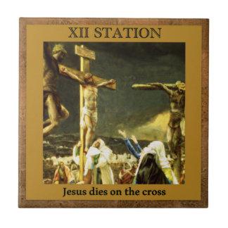 Stations of the Cross #12 of 15 Jesus Dies Tile