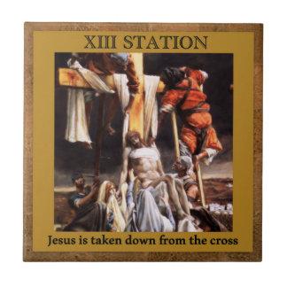 Stations of the Cross #13 of 15 Jesus taken down Tile